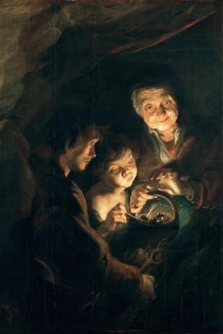 vieille-femme-panier-charbon-1616-18° 116 X 92